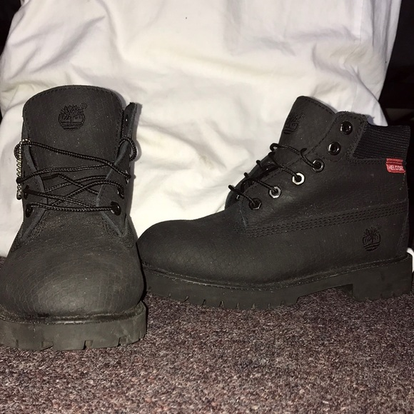 Black timberland Helcore boots new NWT